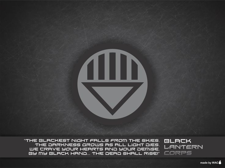 Black lantern oath - photo#34
