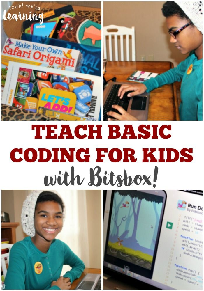 Struggling to teach your kids to code? Introduce them to basic coding for kids with Bitsbox - a monthly subscription box all about coding!