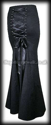 Gothic Clothing Black Fishtail Corset Skirt from The Gothic Catwalk A. £34.95
