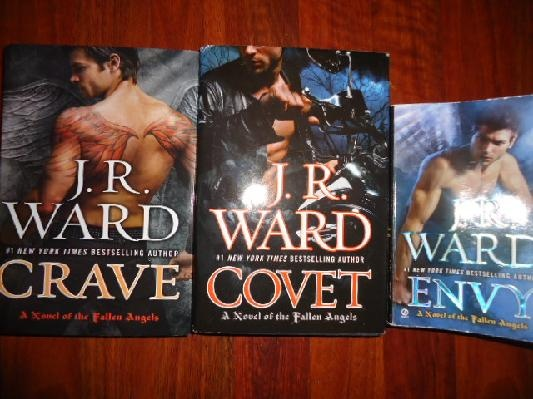 J.R. WARD 3 Fallen Angels Novels~ COVET~CRAVE~ENVY Paranormal Romance Books