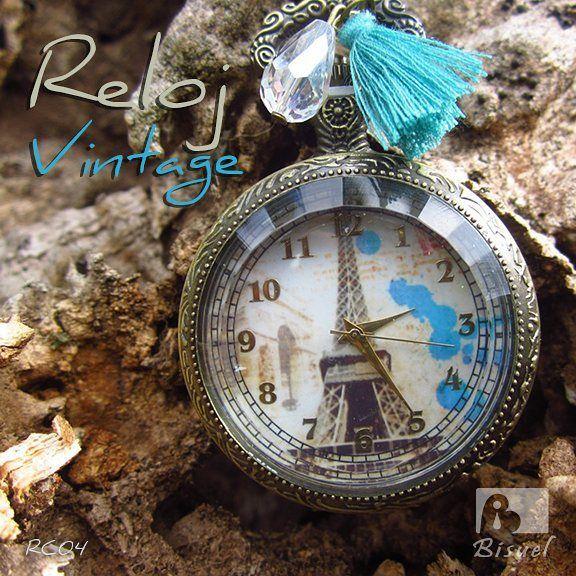 🌸🌸 #Reloj #Vintage 🌸🌸😍 #torreeiffel #relojdebolsillo #estilovintage #torreeifel #accesoriosdemoda #collares #bohostyle #bohochic #modavintage #modaretro #retro #relojes