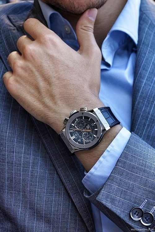 Mens Watch Hublot Classic Fusion Aero Chrono.