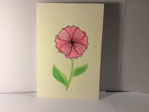 Bunch of blossoms watercolour postcard – Crafting With Louisa