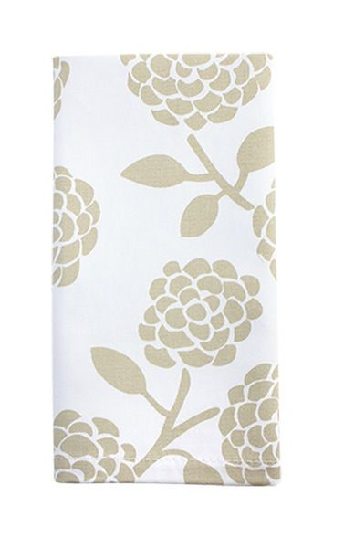 Dandi Set of 4 Napkins - Floral Beige| Krinkle - Homewares & Gifts
