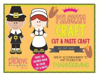 Pilgrim Thanksgiving Craft - mycreativekingdom.com
