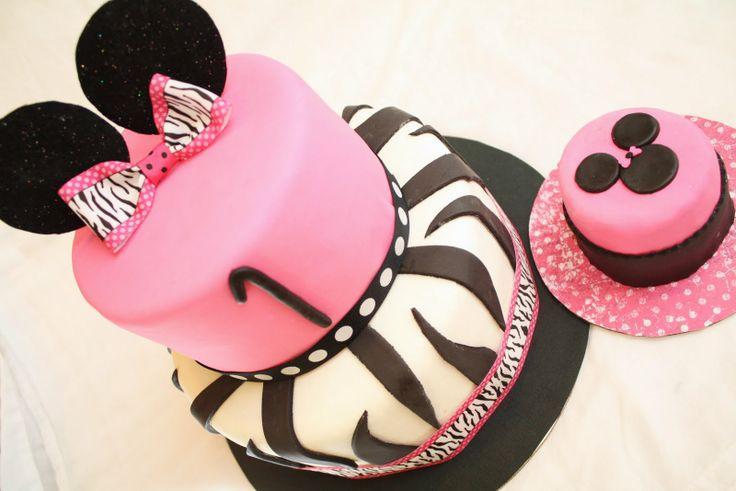 Minnie Mouse/Zebra Birthday Cake!!!