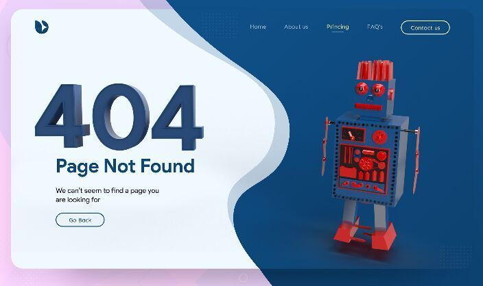 Free Robot 404 Error Page Template For Xd Titanui Website Template Templates Page Template