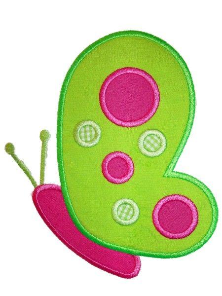 Butterfly2 Applique Design Más