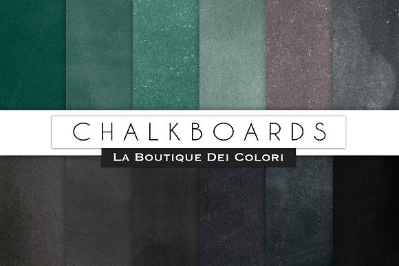 Chalkboard Digital Textures by La Boutique dei Colori on @creativemarket