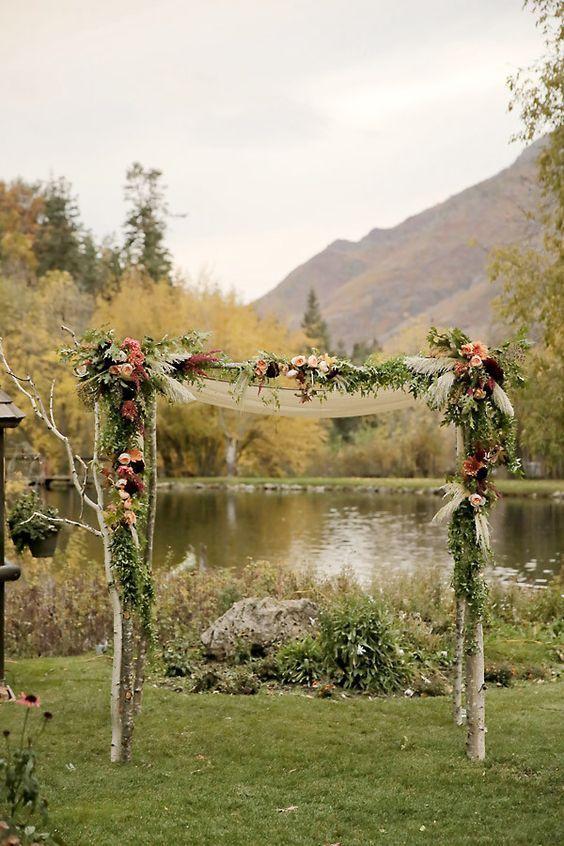Rustic Hochzeit Bogen Dekoration Ideen Fur Hochzeitszeremonie