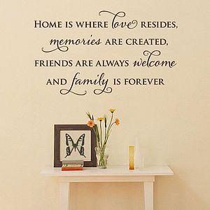 'Your Home' Wall Sticker Quote