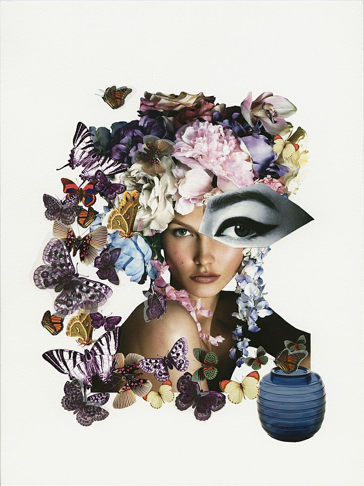 ButterflEYES, 2014 original collage for Convivio Milano ad campaign - Claudia Scarsella