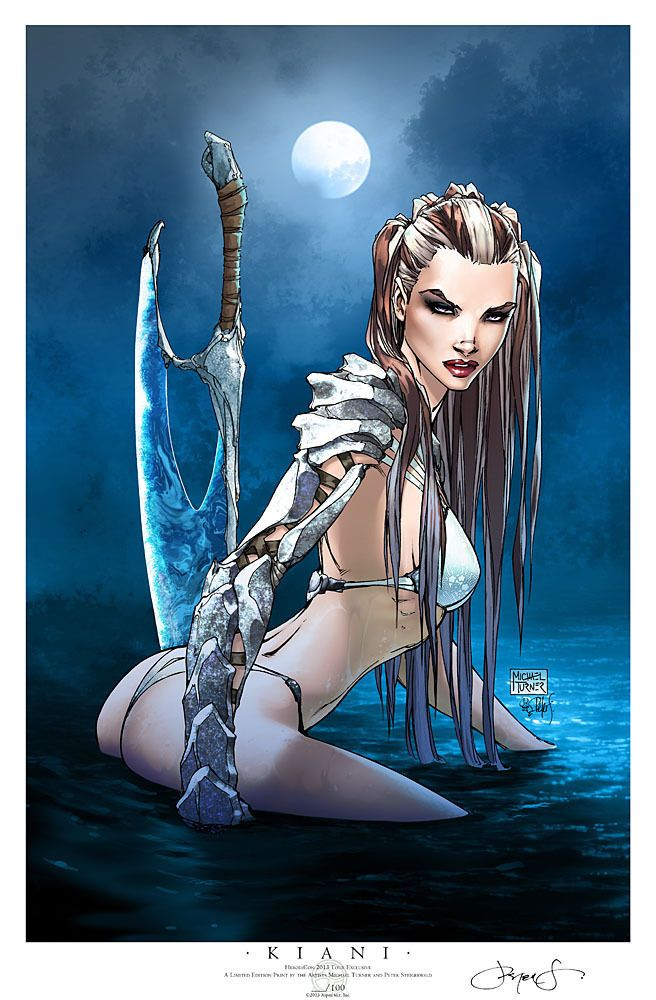 MICHAEL TURNER KIANI HEROESCON '13 TOUR EXCLUSIVE PRINT 2/100 SIGNED STEIGERWALD