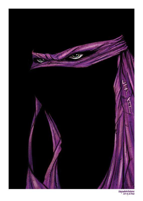 Donatello Mask Teenage Mutant Ninja Turtle Print by HaywireVisions