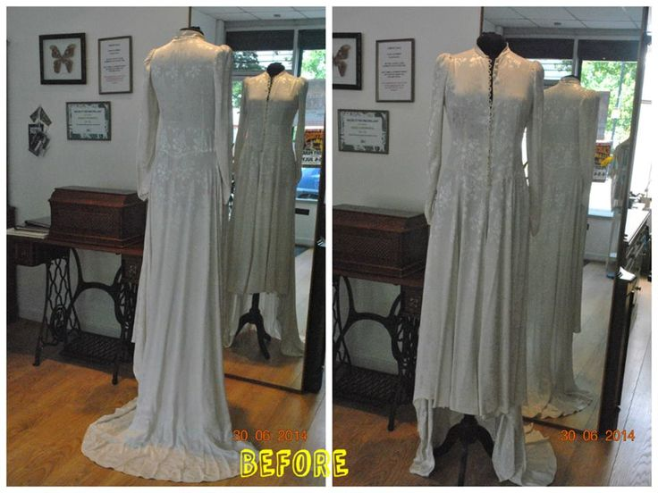Full Length Vintage Wedding Dress Before Alteration