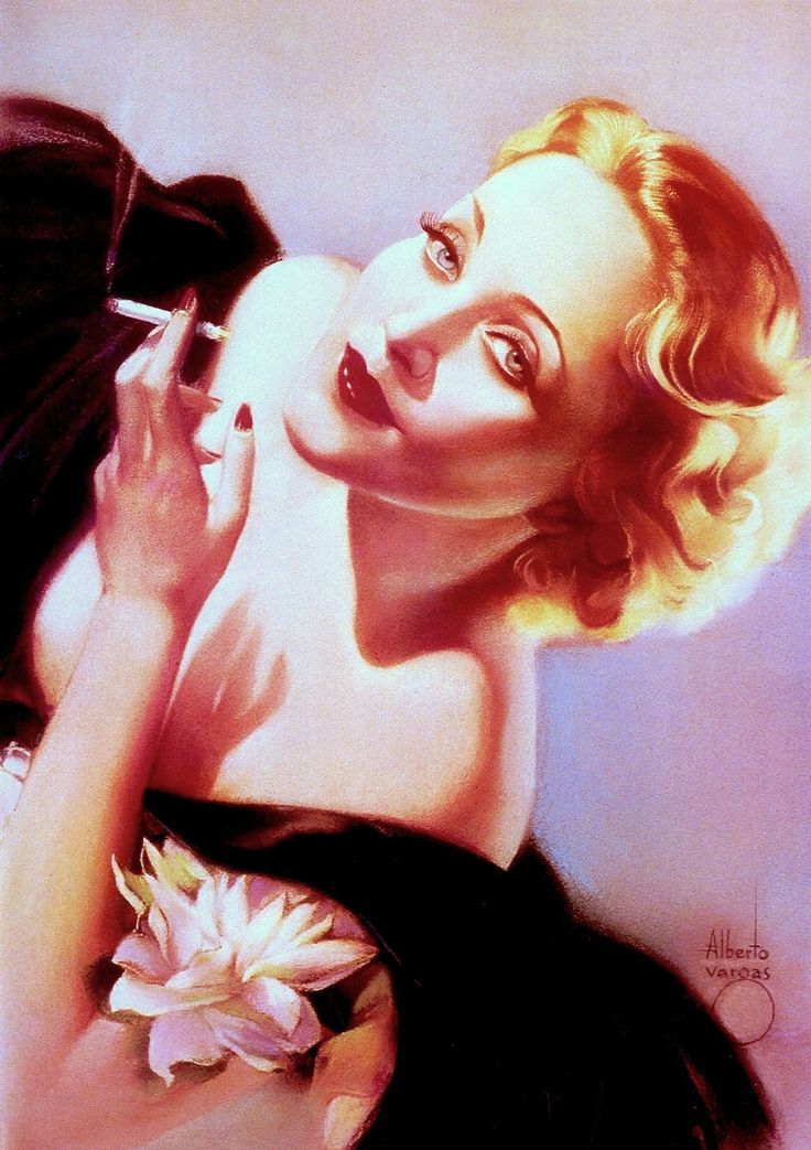 MARLENE DIETRICH 1932 illustration by ALBERTO VARGAS (1896-1982) From Vargas 20's-50's Taschen (please follow minkshmink on pinterest) #marlenedietrich #vargas #illustration #glamour