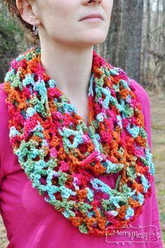 Free Crochet Pattern for a Picot Trellis Stitch Scarf   My Merry Messy Life ✿⊱╮Teresa Restegui http://www.pinterest.com/teretegui/✿⊱╮