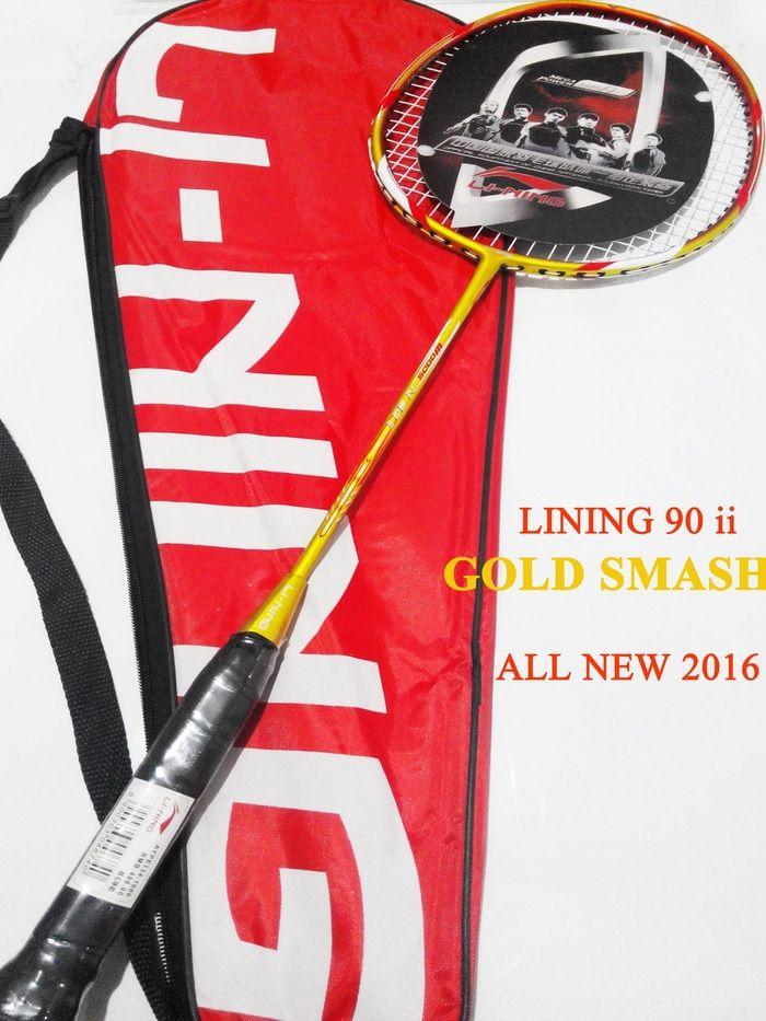 [Extra BONUS] LINING Woods N90 II GOLD SMASH New 2016 Grosir Murah