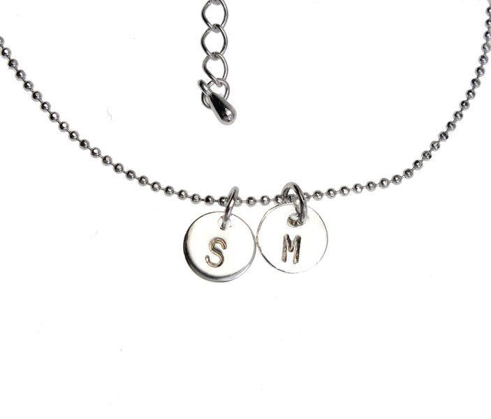 Brautschmuck - Armband | Gravur 2 Plättchen | Silber - ein Designerstück von Fraeulein-Funkel bei DaWanda