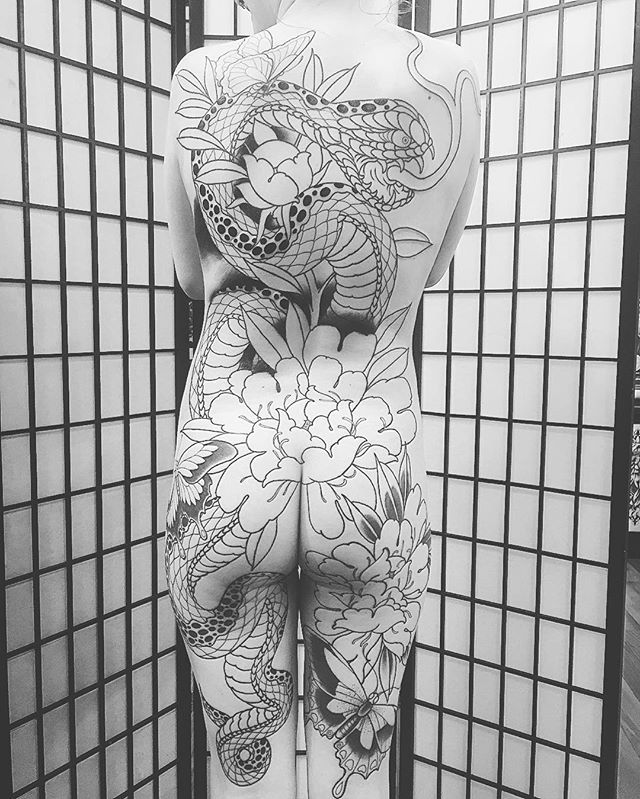Some more progress on this amazing back piece by @mrlucasford couldn't be…