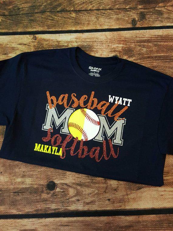 Baseball/Softball Mom Tshirt by CraftyThingsbyErika on Etsy