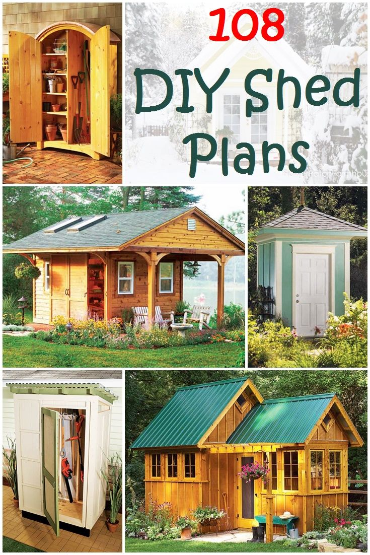 108 DIY Shed Plans & Ideas that You Can Actually Build in Your Backyard - If you need a garage, storage to de-clutter your house, or an additional room for any purpose, building a shed is the answer. All you need is some space in your backyard, woods, basic DIY tools, and the right shed plans. Then, you'll be able to build your dream shed in just one weekend.