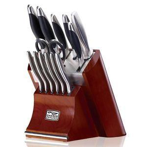Cutlery Landmark Forged Stainless Steel 14 Piece Block Knife Set