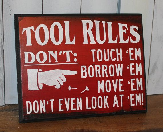 TOOL RULES Sign/Fathers Day Gift/Gift/Gift for Him/Fathers Day Gift/Valentine Gift/Ready to Ship on Etsy, $23.56 AUD