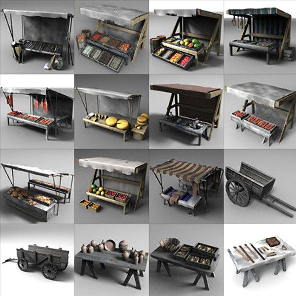 3D Market Place - 3D Model