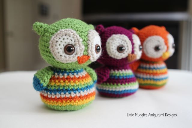 Adorable baby owl! - free pattern found at: http://www.littlemuggles.com/free-patterns/baby-owl-free-pattern/