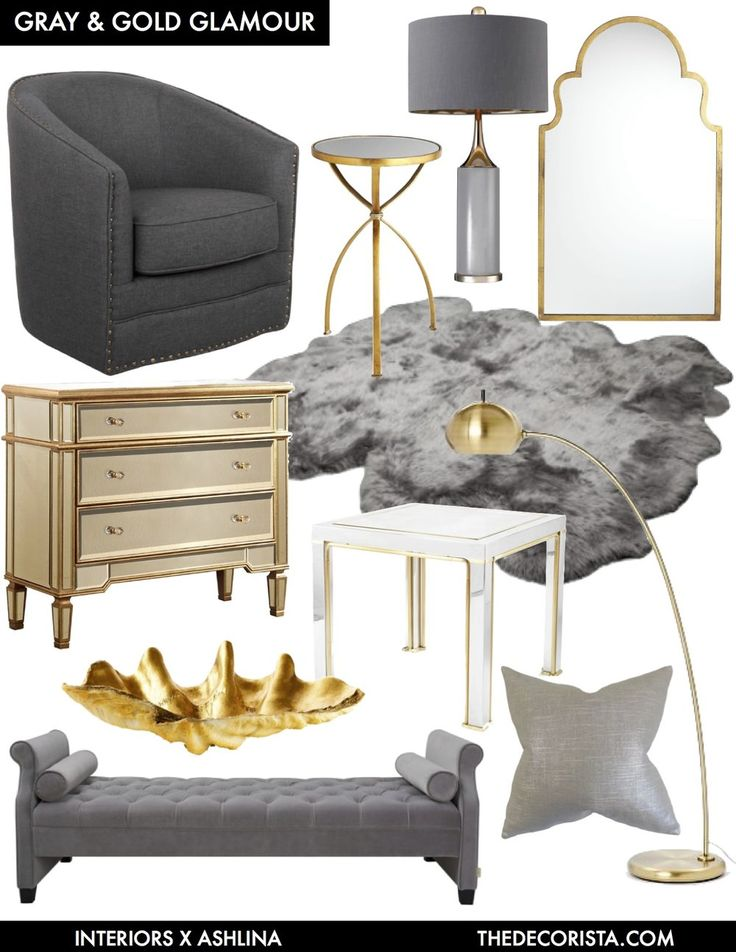 Color Crushing: decorating with gray and gold for glamour — The Decorista