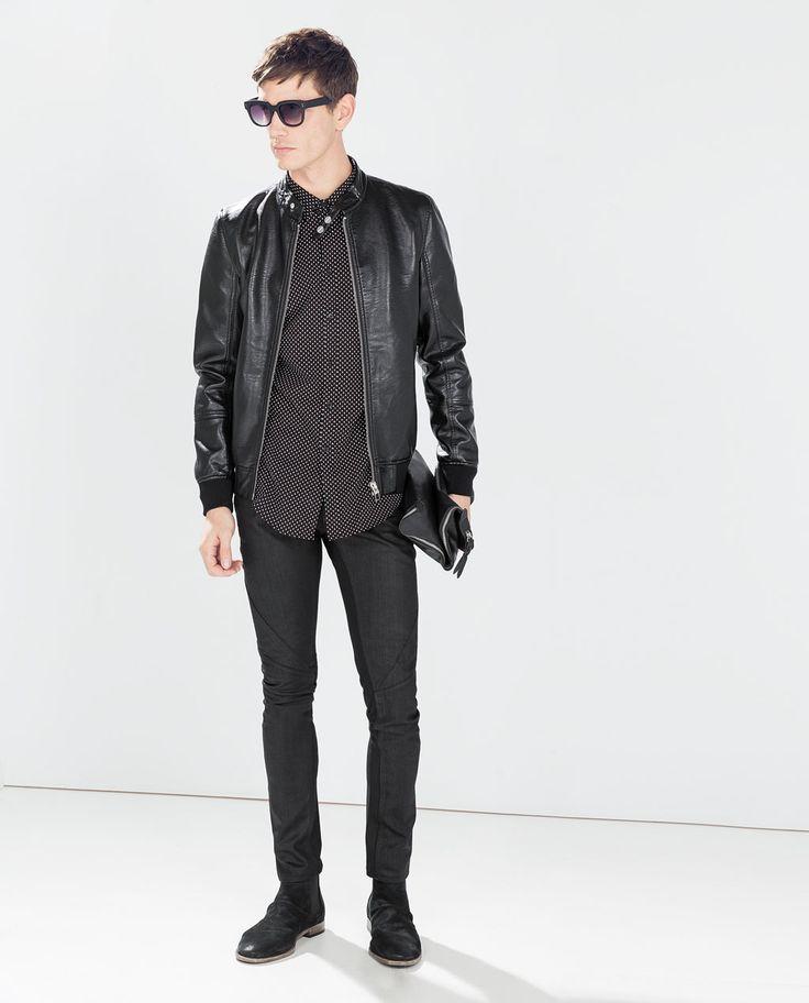 Image 1 of SHINY BOMBER JACKET from Zara