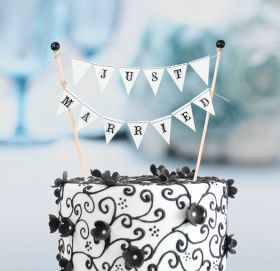 NUNTA :: ACCESORII NUNTA :: Figurine tort nunta :: Figurina tort Proaspat casatoriti cod F244