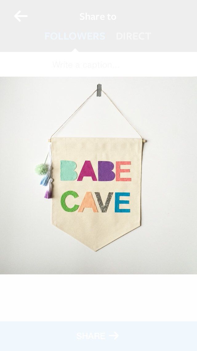 Babe Cave Wall Banner - 19 x 13in - Canvas Banner Wall hanging by SharpToothStudio on Etsy https://www.etsy.com/listing/221187556/babe-cave-wall-banner-19-x-13in-canvas