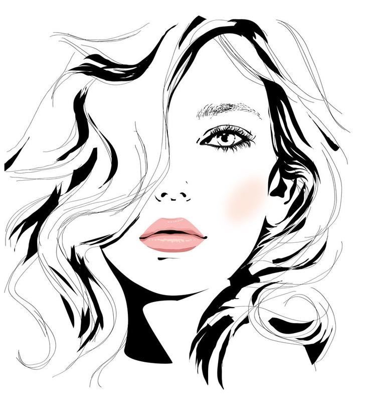 Girl Vector Illustration by Anna Stroumpou