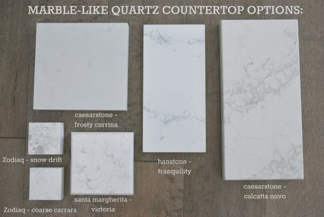 Kitchen countertop options quartz that look like marble for How to care for carrara marble countertops