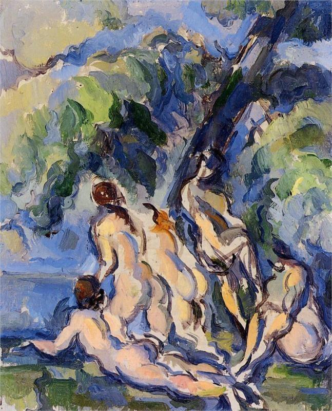 Un tableau de Paul Cézanne. Ce tableau est le plus célèbre tableau de Cézanne parce qu'il est un intermédeaire de l'après-impressionisme et l'art moderne.