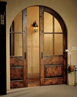 Arched pocket doors ... lovely!: Wine Cellar, Dining Rooms, Living Rooms, House Ideas, Arches Pockets, Dreams House, Arches Doors, Sliding Doors, Pockets Doors