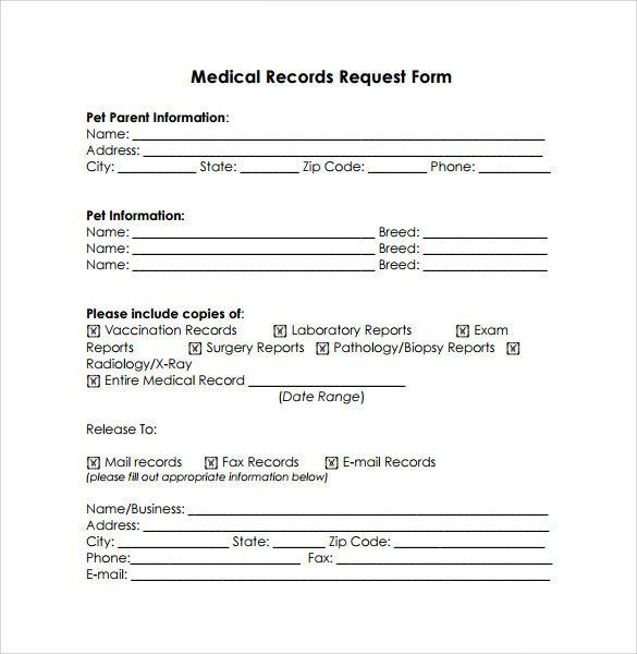 Medical Records Request Form Pdf Unique Medical Records Release Form 10 Free Samples Examples Medical Records Doctors Note Template Medical