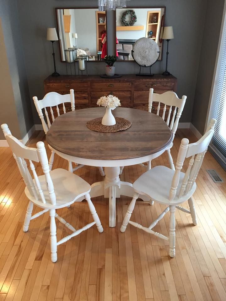Refinished Dining Set Minwax Weathered Oak And Annie Sloan