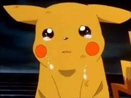 Resultado de imagen para pikachu triste