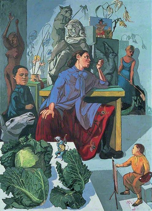 Paula Rego (Portuguese-British: 1935) - The Artist in Her Studio