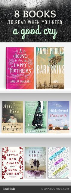 8 new books to read when you need a good cry. Grab the tissues!