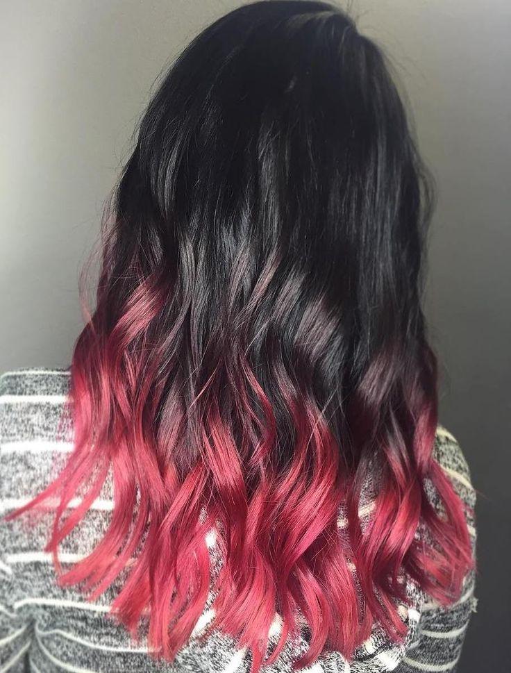 red dip dye hair ideas