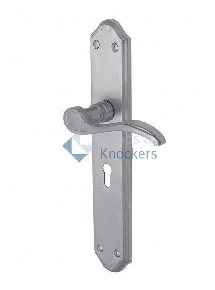 Brushed Chrome Door Handle - 14 sets