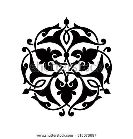 Arabic vector ornament. Basic element for design in islamic style