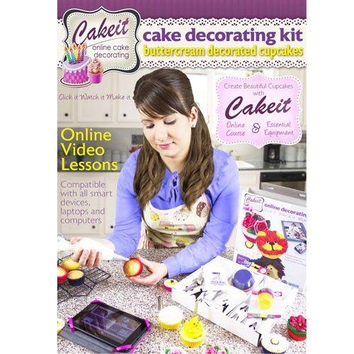 Leer eenvoudig hoe je prachtige cupcakes decoreert met Cakeit. Deze kit bevat alle essentiële taart decoratie gereedschappen voor het versieren van cupcakes. Maar het geeft je ook toegang tot het Cakeit online video platform (in Engels)