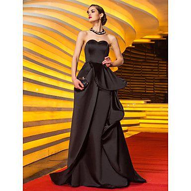 TS+Couture+Ball+Formeller+Abend+Militär+Ball+Kleid+-+Vintage+inspiriert+Promi-Stil+A-Linie+Herzausschnitt+Pinsel+Schleppe+Satin+mit+–+EUR+€+75.26
