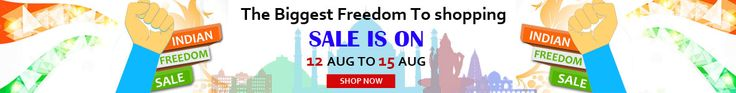 """Shopndone.com is making 2015 Independence Day celebration more pleasurable and enjoying by running a campaign """"Indian Freedom Sale. This campaign includes 10% discounts on all products and flat 1000 Rs off on gowns. So, you don't need to go to crowded malls and wait in long lines to get Independence Day offers."""