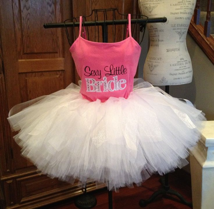 Bachelorette Tutu Set  Sexy Little Bride by PinkPosieCouture, $95.00